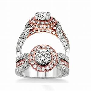 rose and white gold wedding ring modest navokalcom With rose and white gold wedding rings