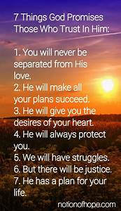7 Things God Pr... Jesus Promise Quotes