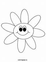 Coloring Daisy Flower Murakami Takashi Template Coloringpage Thefarmcom Enregistree Depuis Io sketch template