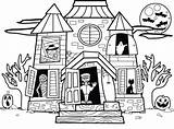 Haunted Coloring Pages Printable Coloringme sketch template