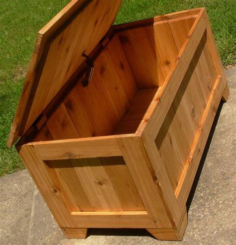 rustic reclaimed cedar toy box blanket chest coffee