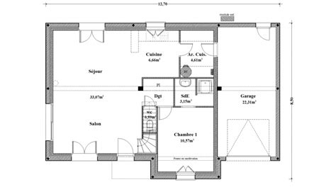 plan plain pied 3 chambres maison traditionnelle rennes ille et vilaine 35 et