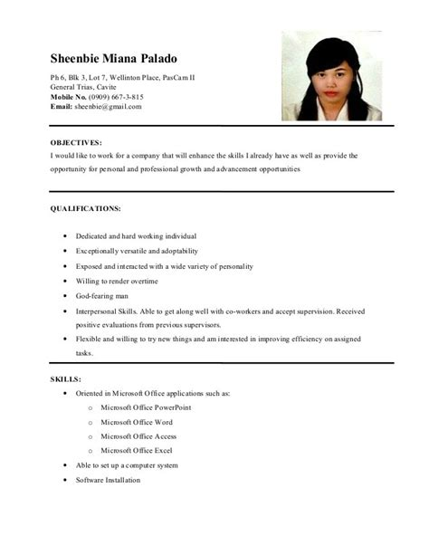 Sle Skills In Resume For Ojt by Resume Skills Sle Hrm Resume Ixiplay Free Resume Sles