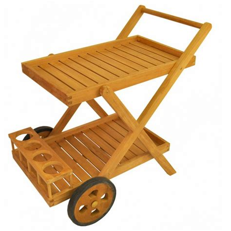 teak cobana teak patio serving cart ultimate patio