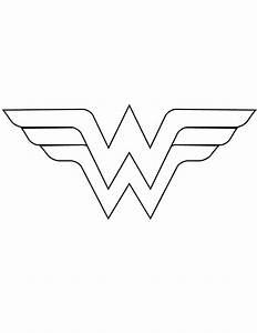 Wonder Woman Logo Template Cut Out Coloring Page | Sew ...