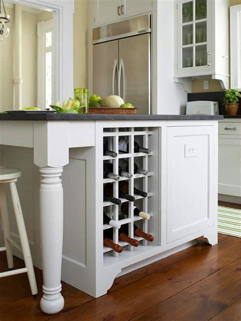 kitchen islands with wine rack 12 small details that will your kitchen stand out