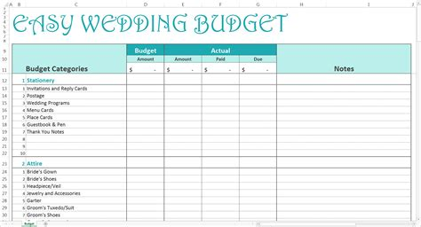 planners  wedding budget worksheet  wedding