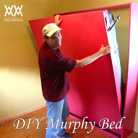 build  murphy bed woodworking  mere mortals