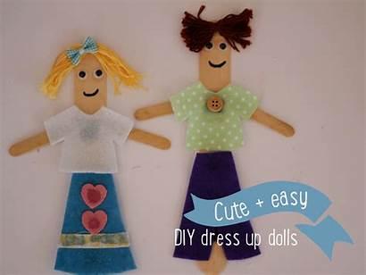 Dolls Paddlepop Stick Craft Diy Popsicle Couple