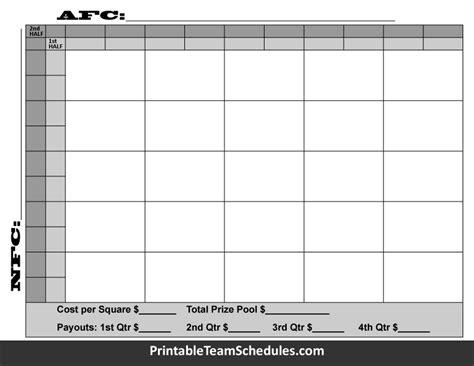 bowl box template bowl squares 2016 template 100 squares