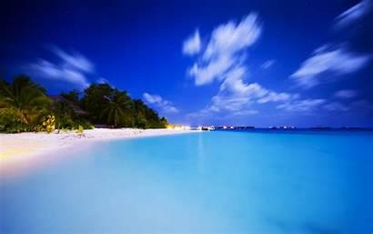 Maldives Desktop Sea Sunset Background Wallpapers Night