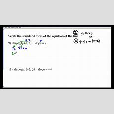 Kuta Writing Linear Equations Youtube