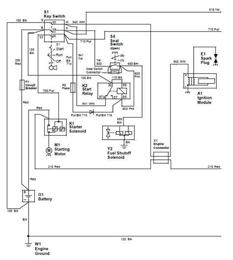 deere stx38 yellow deck wiring diagram