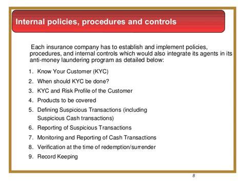 Anti Money Laundering Compliance Program Policies And Insurance Anti Money Laundering