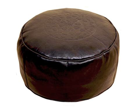 Morrocan Carpets by Moroccan Leather Pouf Brown Etnodesign Se Unique