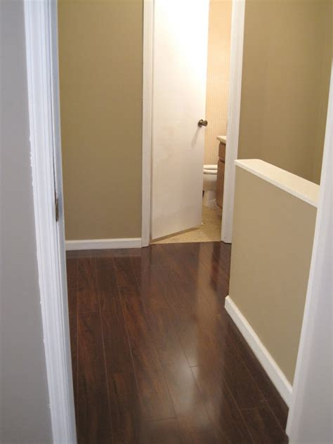 laminate wood flooring upstairs upstairs hallway flooring before and after ugly duckling house