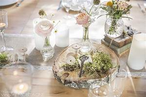 Table Mariage Champetre : rondin de bois centre de table id al pour un mariage ~ Melissatoandfro.com Idées de Décoration