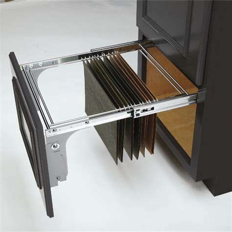 pull out file cabinet drawer rev a shelf pull out file drawer system for kitchen or