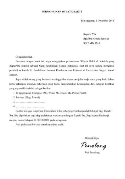 Contoh Surat Lamaran Untuk Cpns Guru - Kumpulan Contoh Surat dan Soal Terlengkap