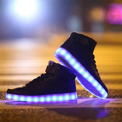 led light up shoes in stores new men s light up led sneakers shop twackky