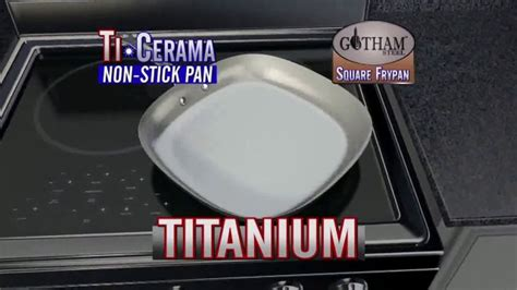 gotham steel square frypan tv commercial  cooking space ispottv
