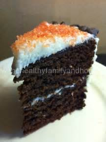 vegan chocolate birthday cake  healthy family  home