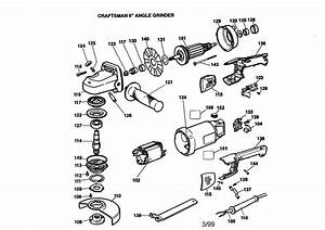 Craftsman Model 900277240 Grinder Angle Genuine Parts