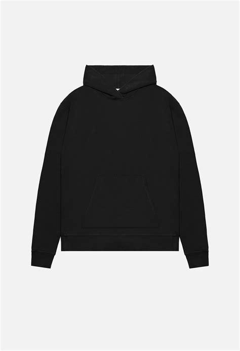 oversized cropped hoodie black