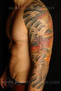 SHANE TATTOOS: Japanese Koi 3/4 Sleeve Tattoo on Shaydon