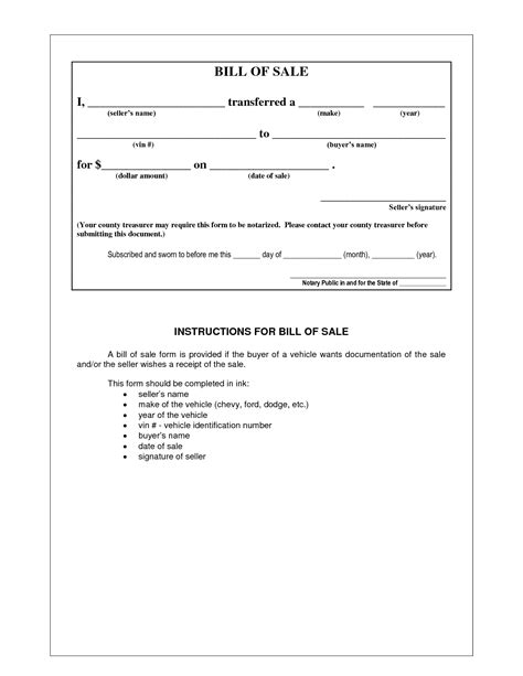 example of bill of sale best photos of bill of sale format example example bill