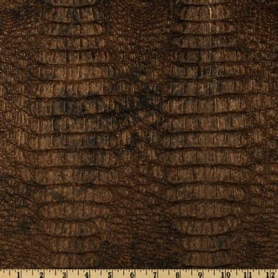 Buy Leather Upholstery Fabric by Faux Leather Gator Metallic Gilt Discount Designer