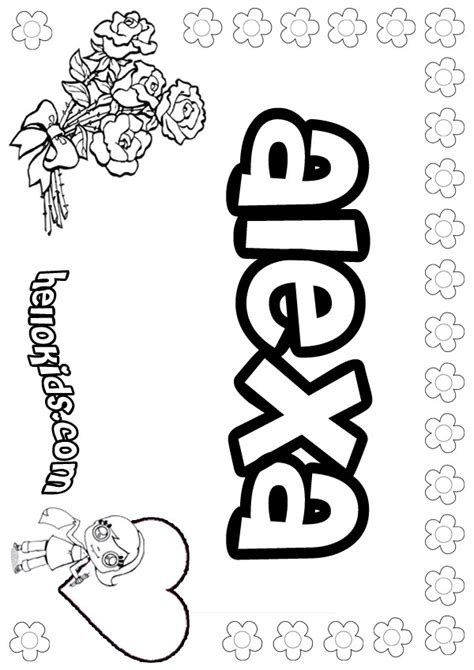Coloring Names by Coloring Pages Hellokids