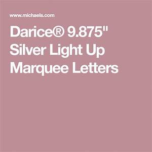 Darice, U00ae, 9, 875, U0026quot, Silver, Light, Up, Marquee, Letters