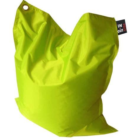 pouf geant pas cher pouf imperm 233 able vert 110x130 cm achat vente pouf poire cdiscount