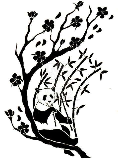 tribal panda tattoo   clip art