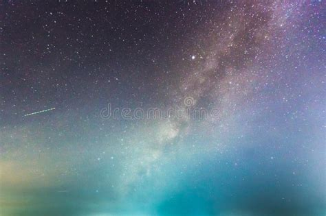 Abstract Long Exposure Milky Way The Night Sky