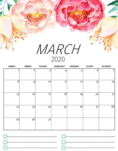 cute march  calendar archives  calendars