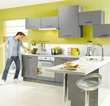 cuisine vert et gris deco cuisine vert et gris