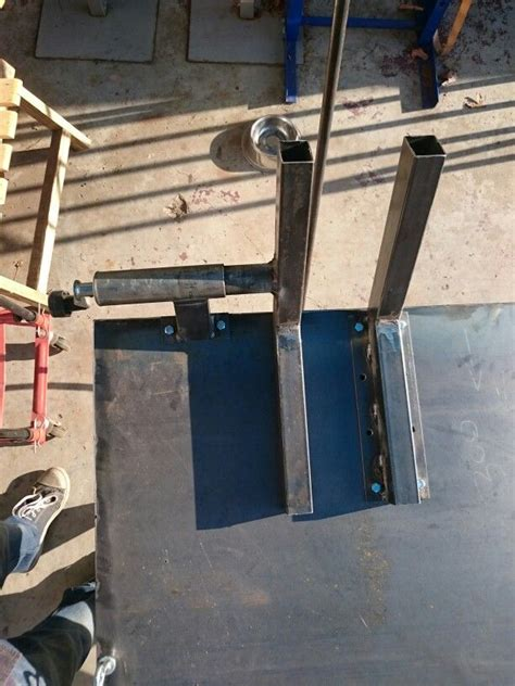 wheel clamp    trailer jockey wheel homemade