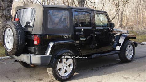 black jeep 4 door 2007 jeep wrangler unlimited sahara sport utility 4 door