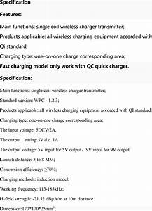 Dns Ac511001n Wireless Charger  Wireless Charging Pad User