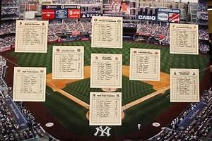 Baseball Themed Table Seating Chart