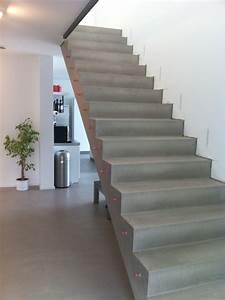 Beton Cire Treppe : beton cire oberfl chen in beton look betontreppe beton cire treppe ~ Indierocktalk.com Haus und Dekorationen