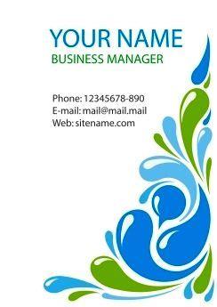 desain kartu nama business card template corel