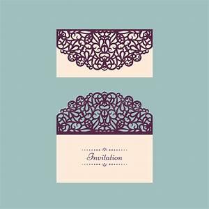 lazercut vector wedding invitation template wedding With laser cut wedding invitations vector free