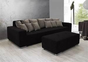 Big Sofa Grau : ariva 3 big sofa couch polstersofa stabil inkl kissen stoffbezug schwarz grau ebay ~ Buech-reservation.com Haus und Dekorationen