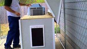 air conditioned dog house youtube With outdoor dog house with air conditioning