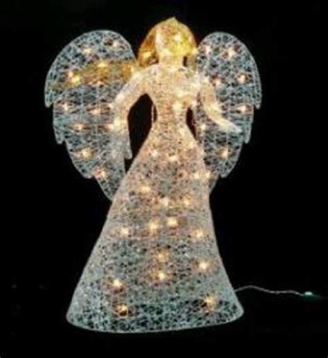 lighted christmas angels yard