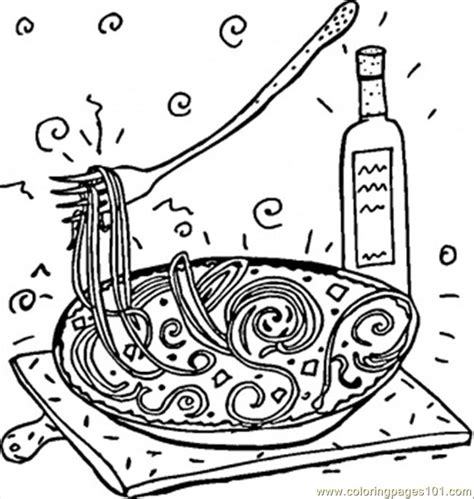 Coloring Italy by Coloring Pages Italian Spaghetti Countries Gt Italy