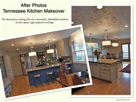 kitchen tile makeover easy affordable damaged popcorn ceiling fix diy 3264